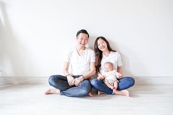 家族写真も撮影可能