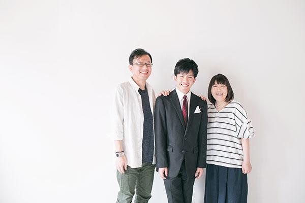 家族の写真撮影