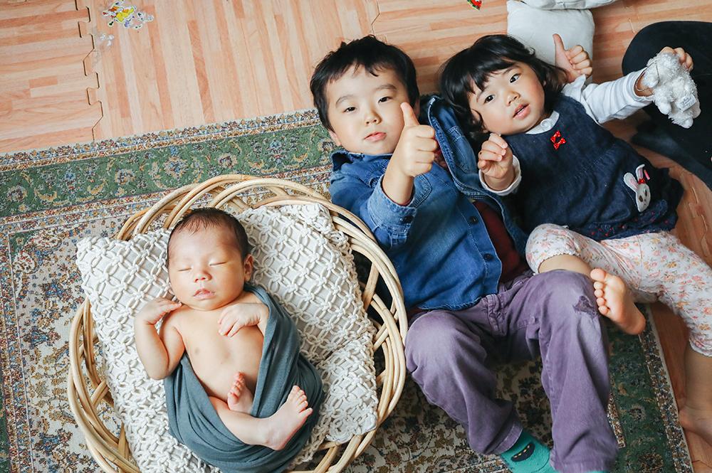 3人の育児はカオスな日々。