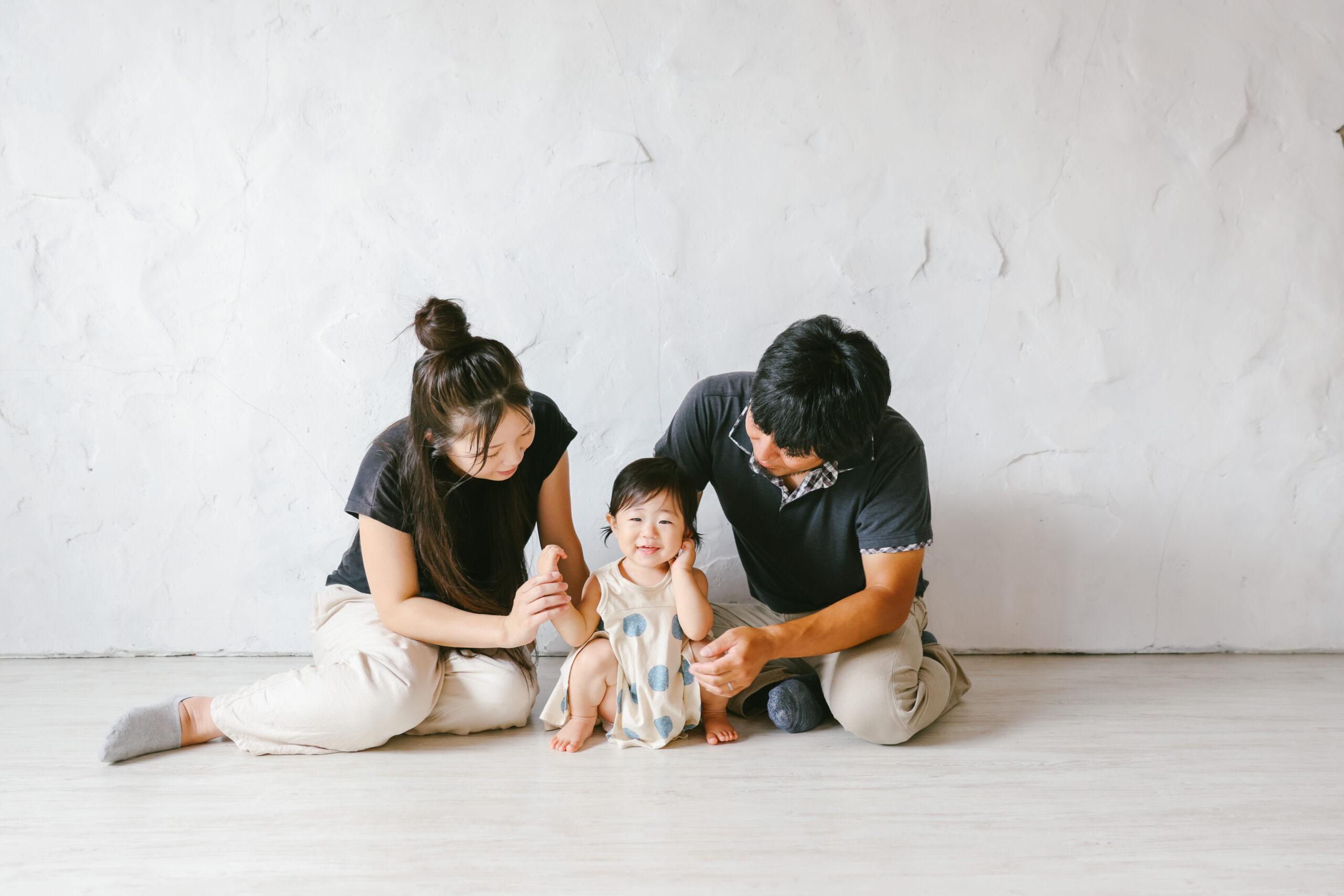 家族が変化していく写真。